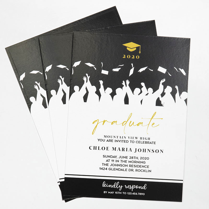 Custom Full Color 5 X 7 Inch Invitation Cards