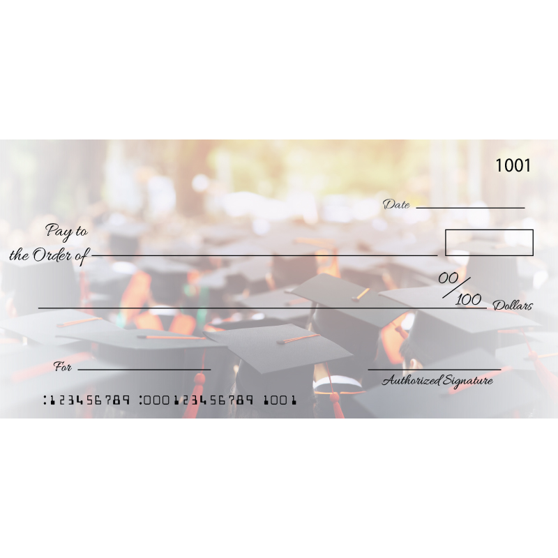 Custom Graduation Big Checks