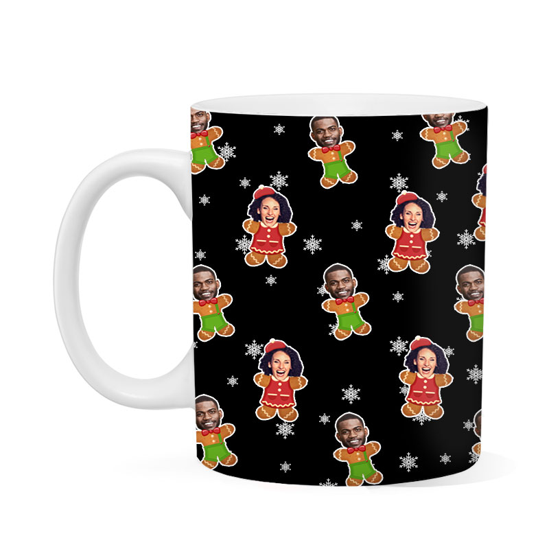 Custom His And Hers Gingerbread Mug