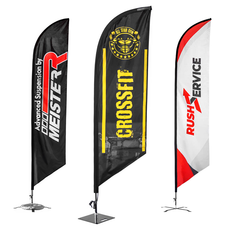 Custom 14' X 3' Large Feather Flags