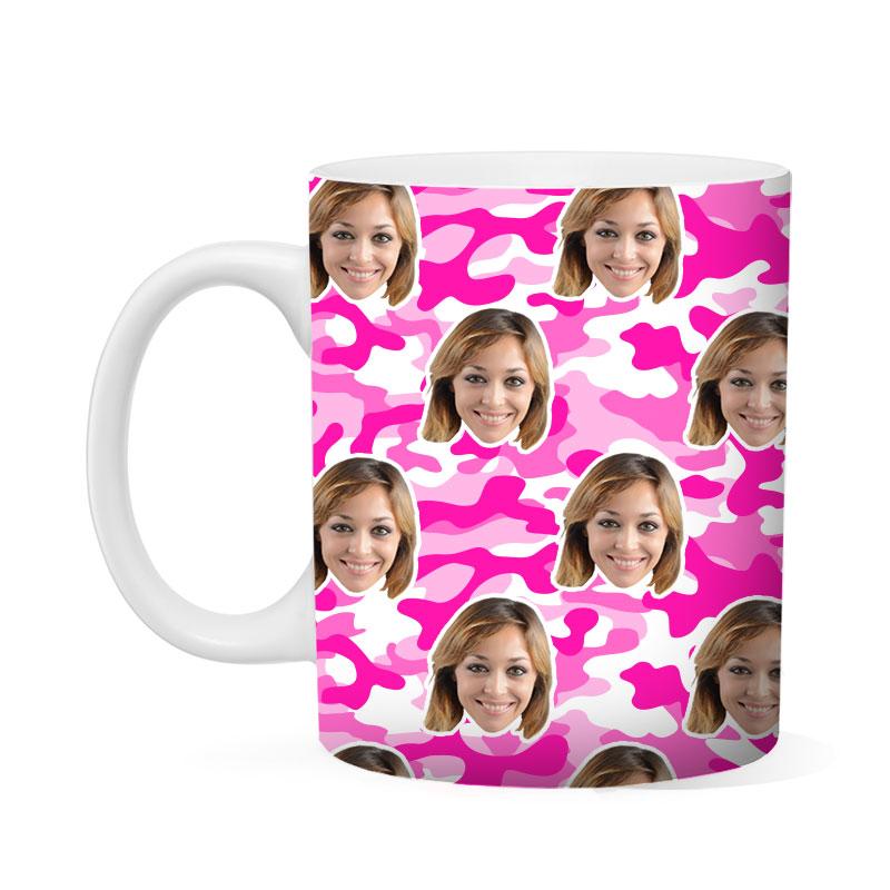 Custom Pink Camo Mug