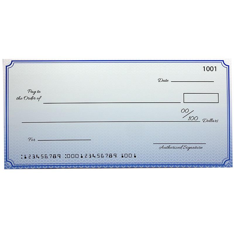 Custom Premium Big Checks 18 X 36 Inch