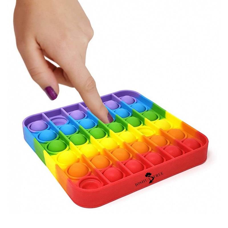 Custom Printed Silicone Push Pop Bubble Fidget Toys