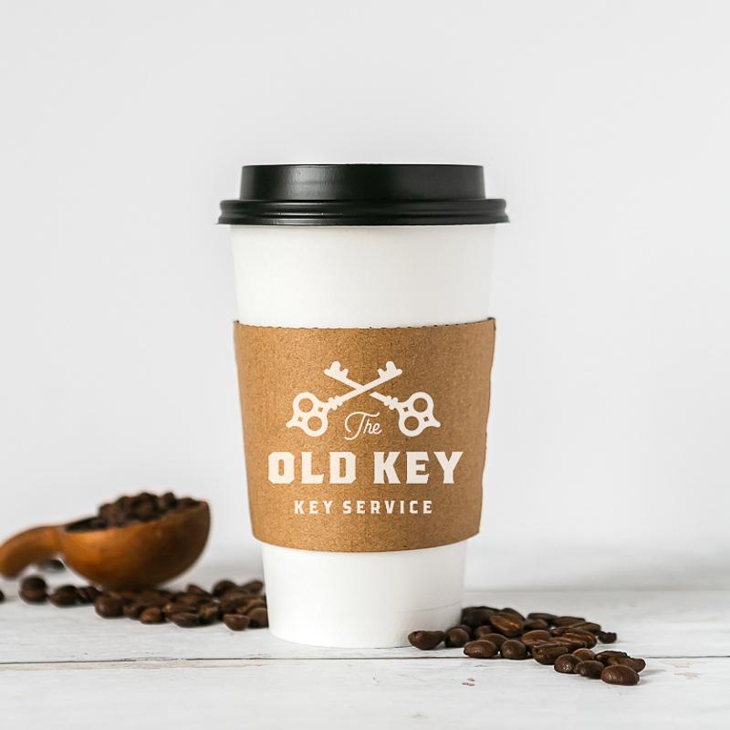 Custom Traditional Natural Kraft Cup Sleeves