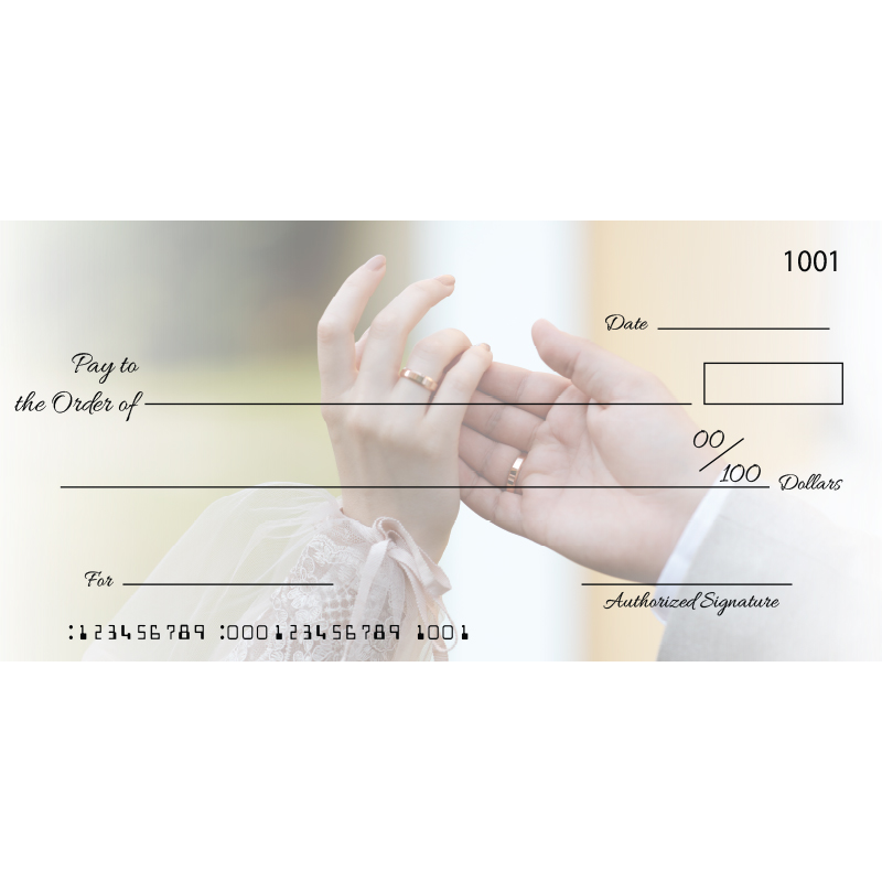 Custom Wedding Hand Big Checks