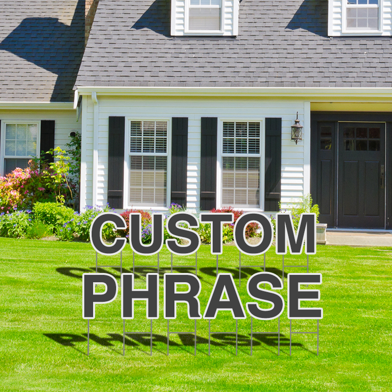 Custom Your Own Yard Letters