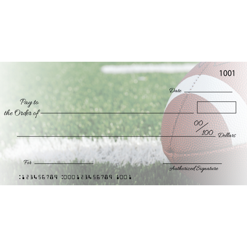 Custom Football Big Checks