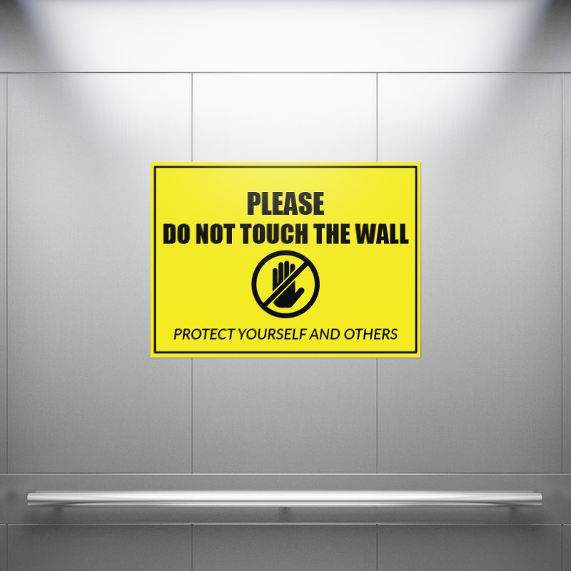 Do Not Touch Wall Rectangle Stickers