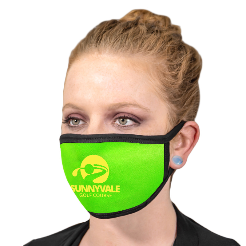 Fluorescent Neon Printed Reusable Face Masks