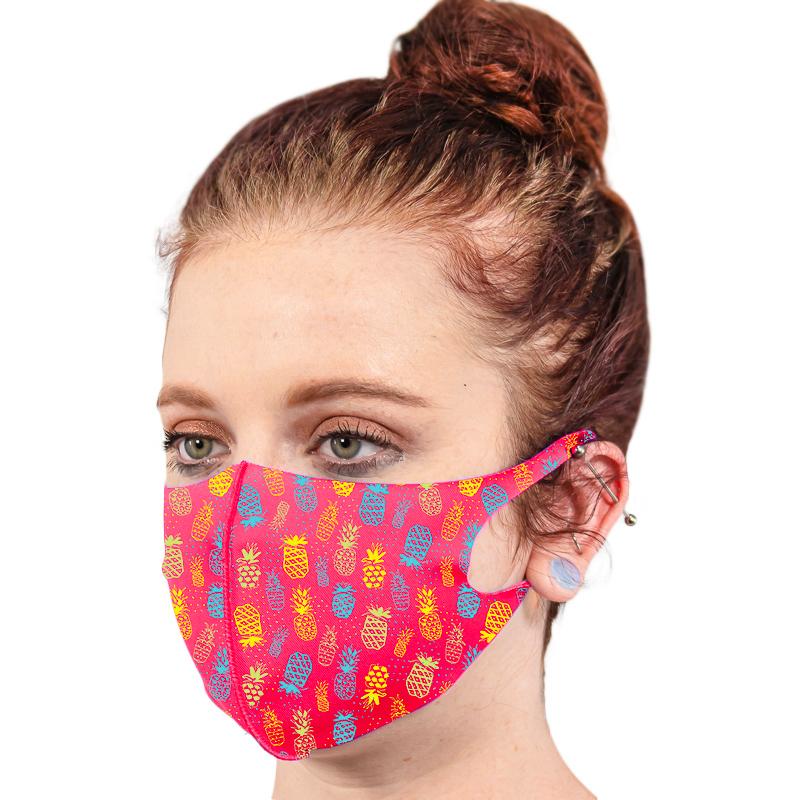 Fluorescent Neon Soft Fabric Reusable Face Masks