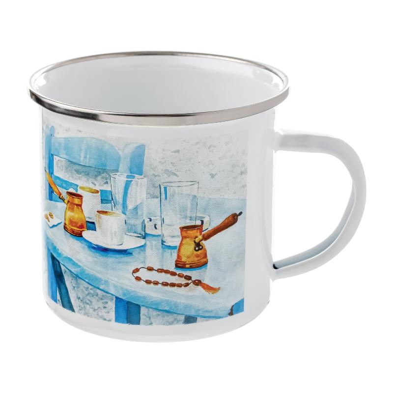 Full Color 12 Oz Camper Enamel Mugs
