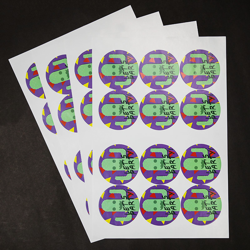 Full Color 3.5 Inch Circle Sticker Sheets