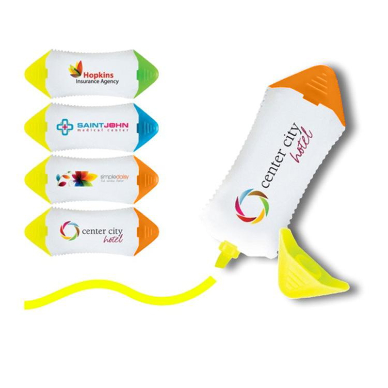 Full Color Double Arrow Highlighters - White Body