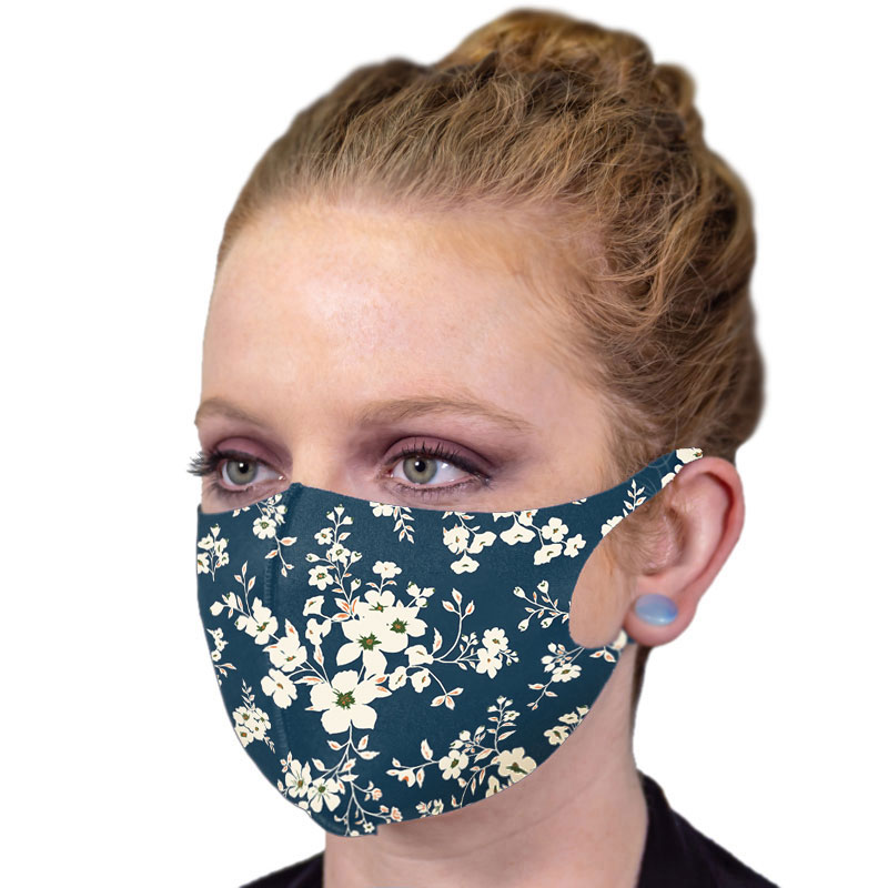 Full Color Soft Fabric Reusable Face Masks
