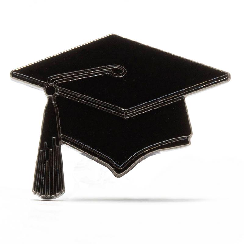 Graduation Cap Stock Lapel Pins