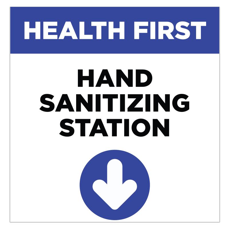 Hand Sanitizing Station Stickers