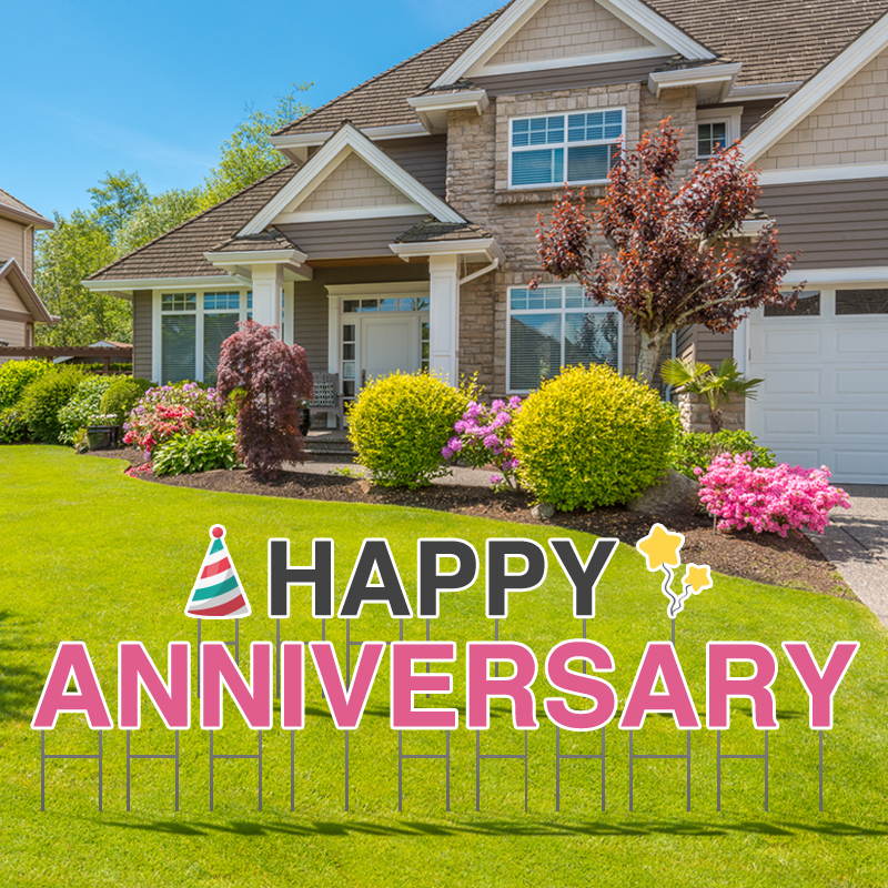 Happy Anniversary Yard Letters