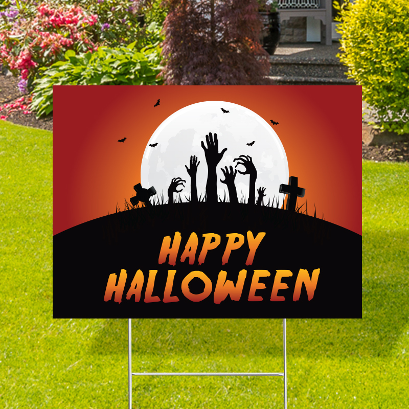 Happy Halloween Spooky Yard Signs