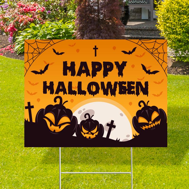 Happy Halloween Yard Signs