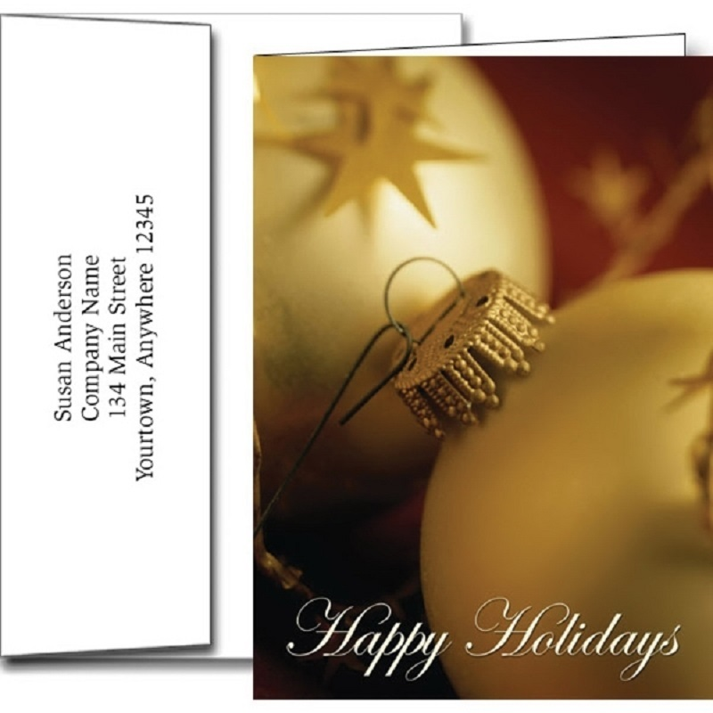 Happy Holidays Greeting Cards With Imprinted Envelopes