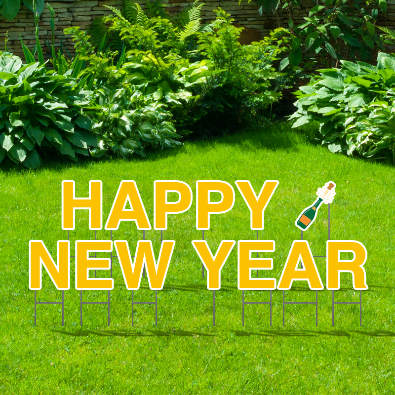 Pre-Packaged Happy New Year Yard Letters