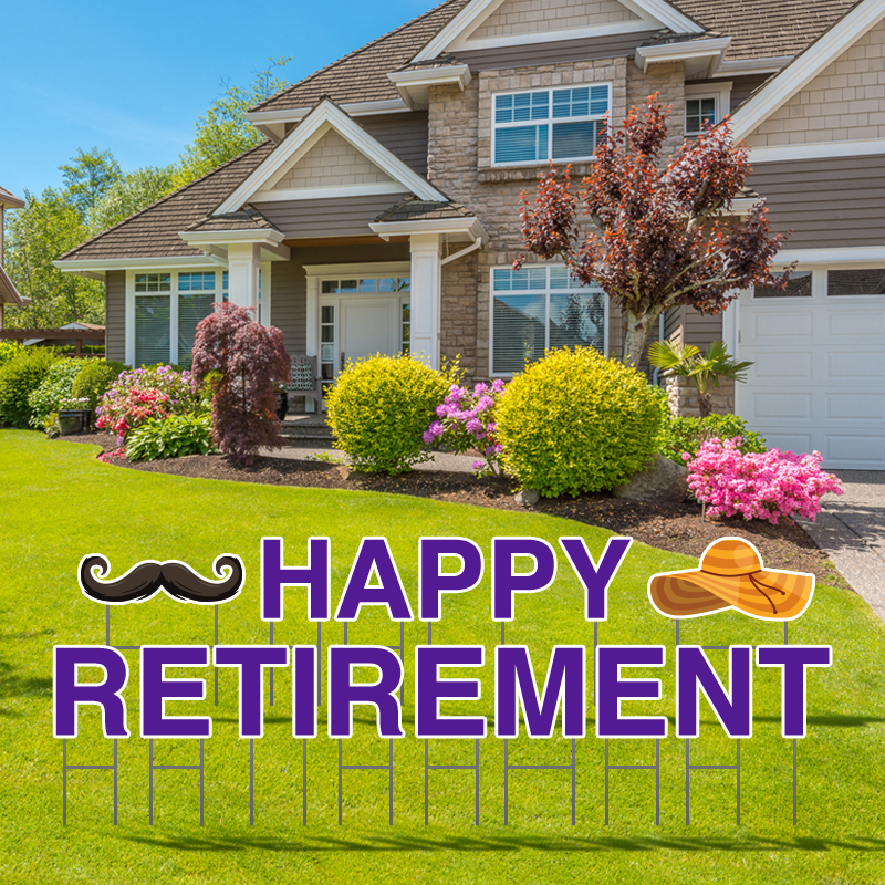 Happy Retirement Yard Letters