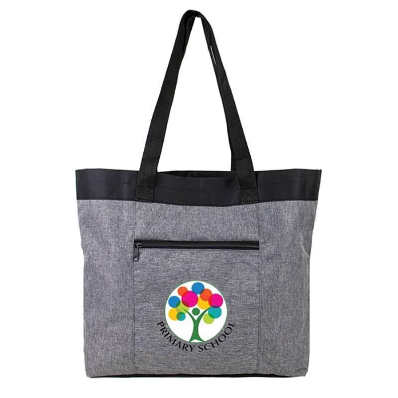 Heather Gray Open Tote Bags