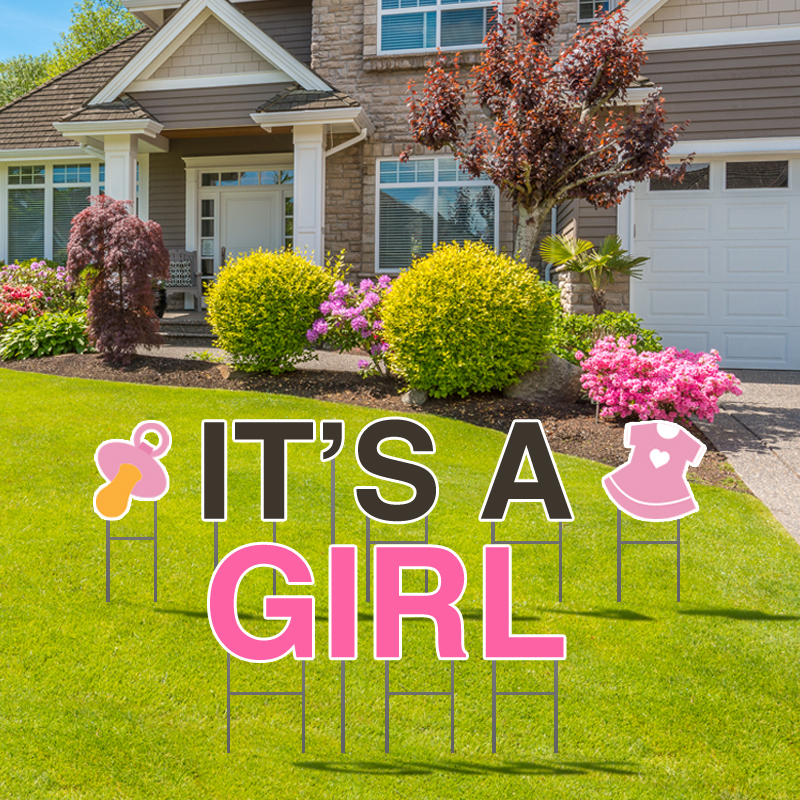 It's A Girl Yard Letters