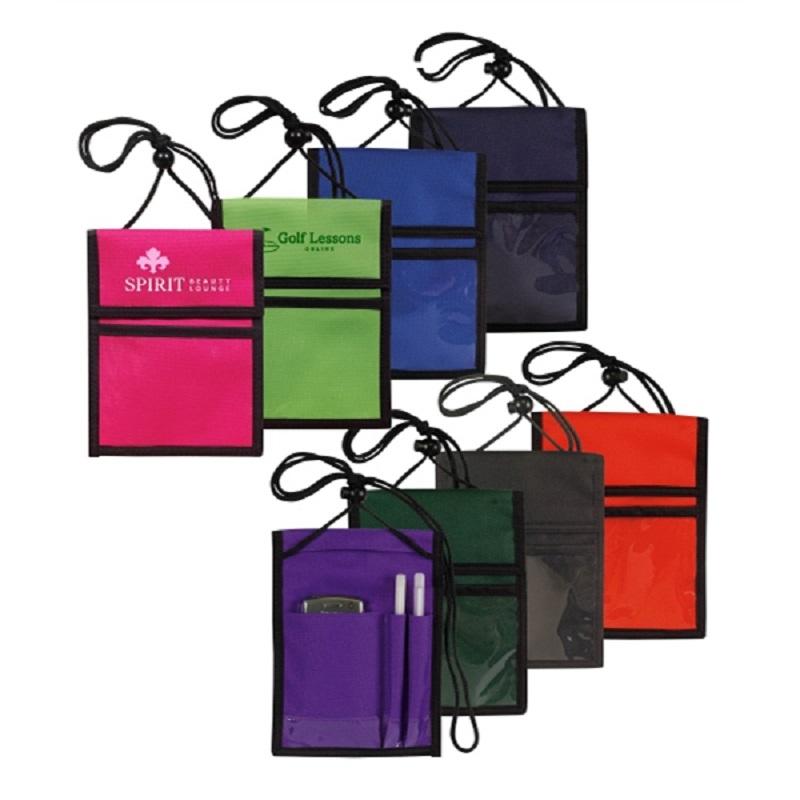 Multi Pocket Badge Holder/Passport Pouch