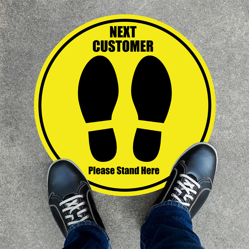 Next Customer Round Floor Stickers