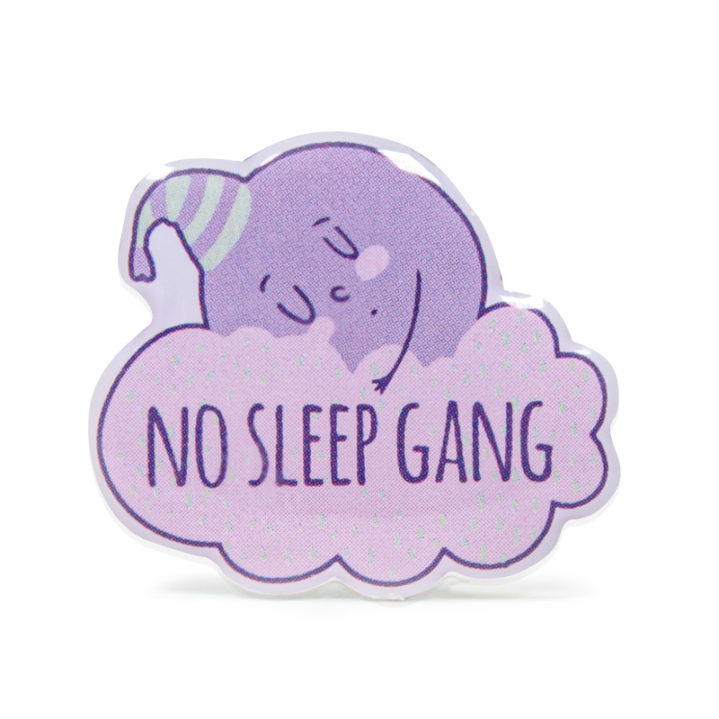 No Sleep Gang Stock Lapel Pins