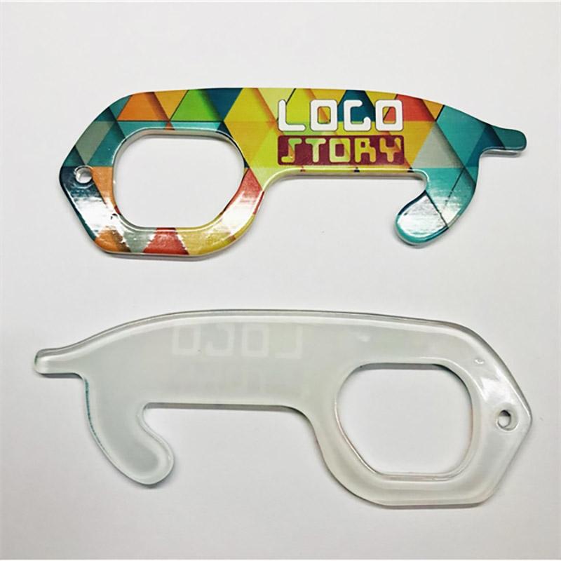 Non-Touch Full Color Acrylic Door Opener Keys