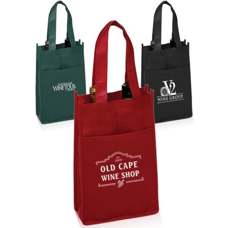 Non-Woven Vineyard Two Bottle Wine Bag