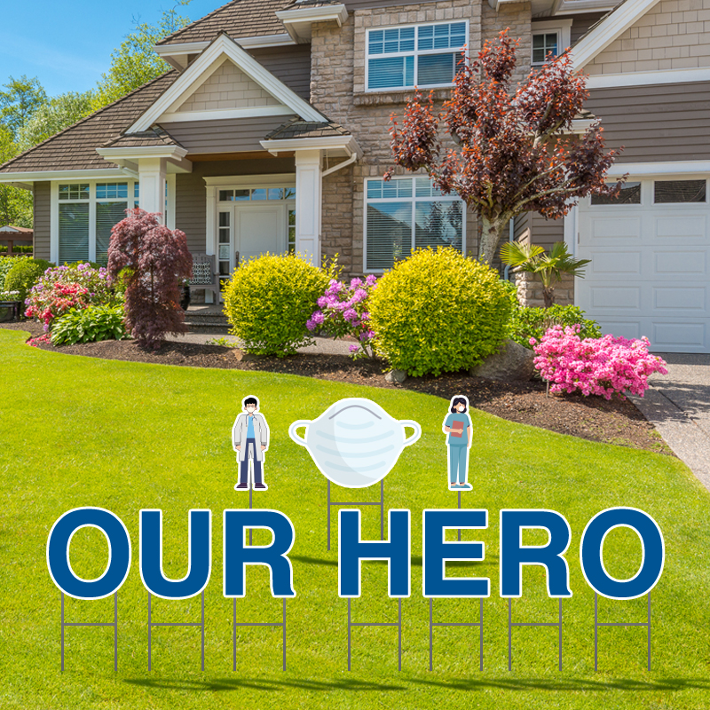 Our Hero Yard Letters