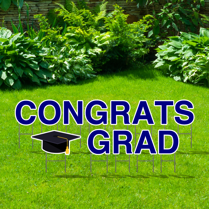 Pre-Packaged Congrats Grad Yard Letters