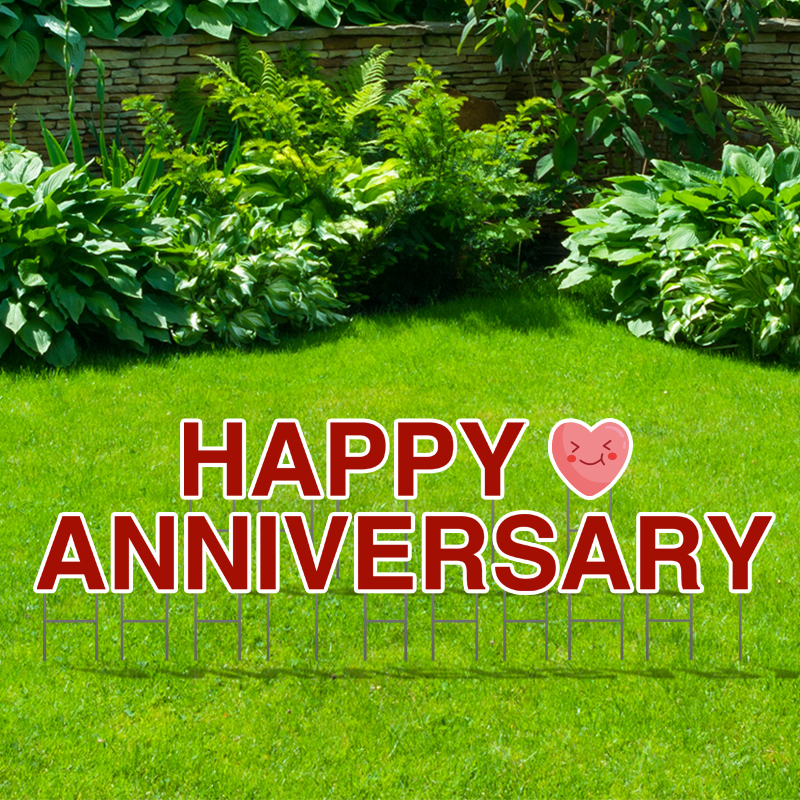 Pre-Packaged Happy Anniversary Yard Letters