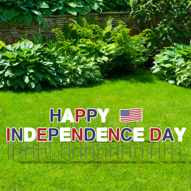 Pre-Packaged Happy Independence Day Yard Letters