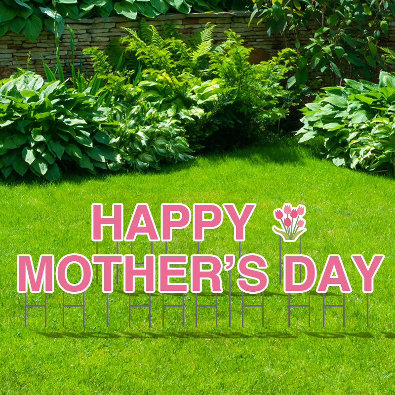 Pre-Packaged Happy Mother's Day Yard Letters