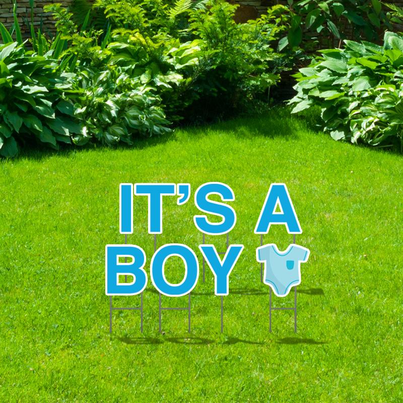 Pre-Packaged It's A Boy Yard Letters
