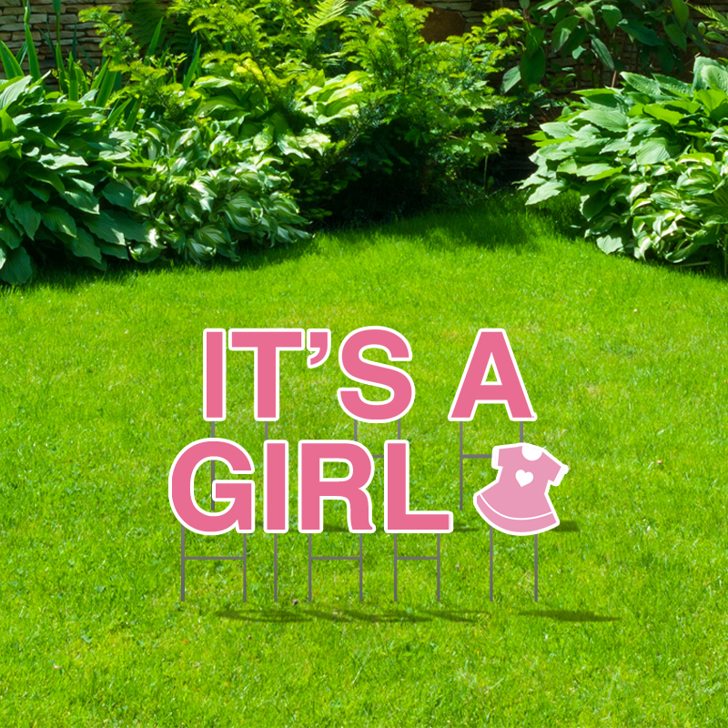 Pre-Packaged It's A Girl Yard Letters
