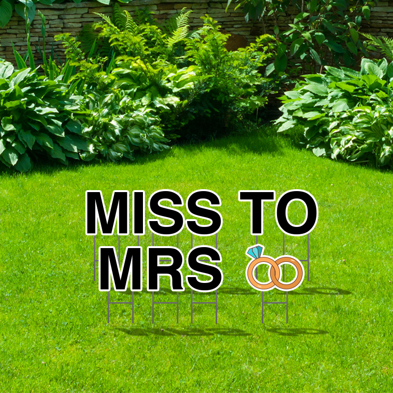 Pre-Packaged Miss To Mrs Yard Letters
