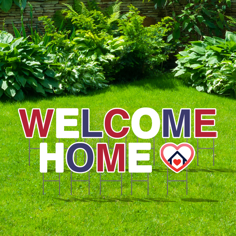 Pre-Packaged Welcome Home Yard Letters