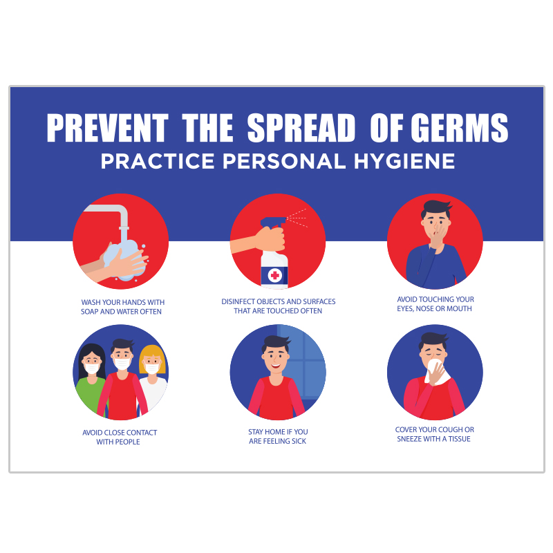 Prevent The Spread Of Germs Infographic Stickers
