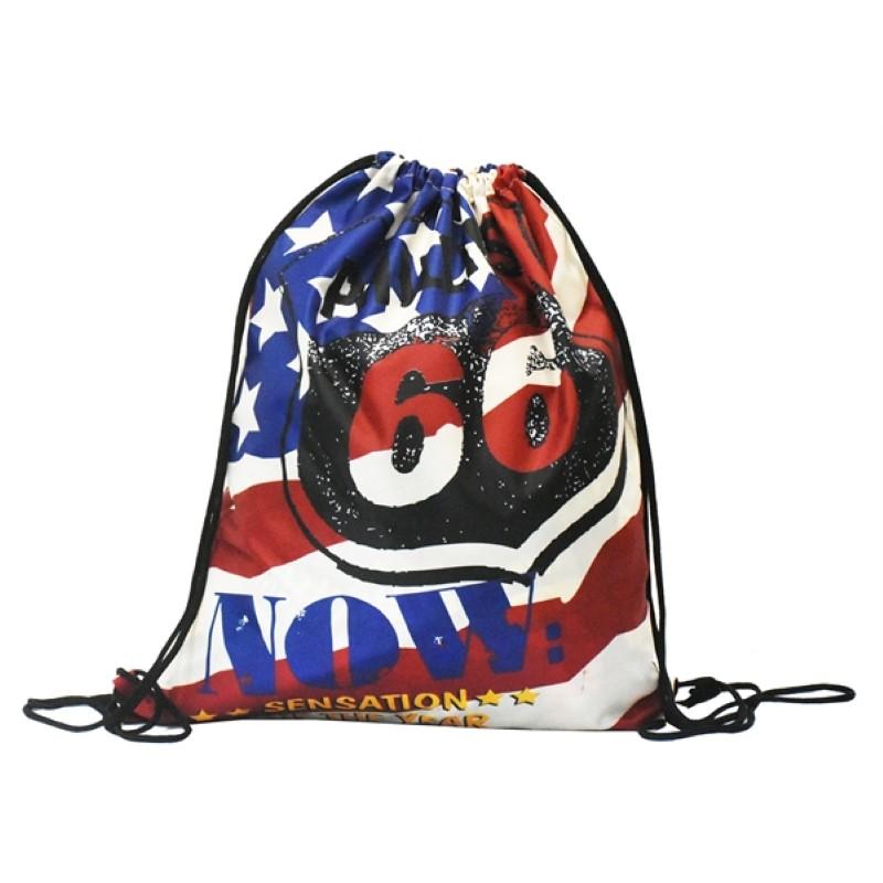 Rush Full Color Drawstring Backpack Sports Bags