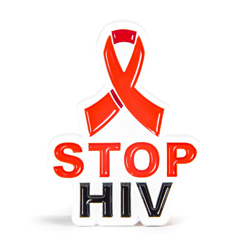Stop HIV Stock Lapel Pins