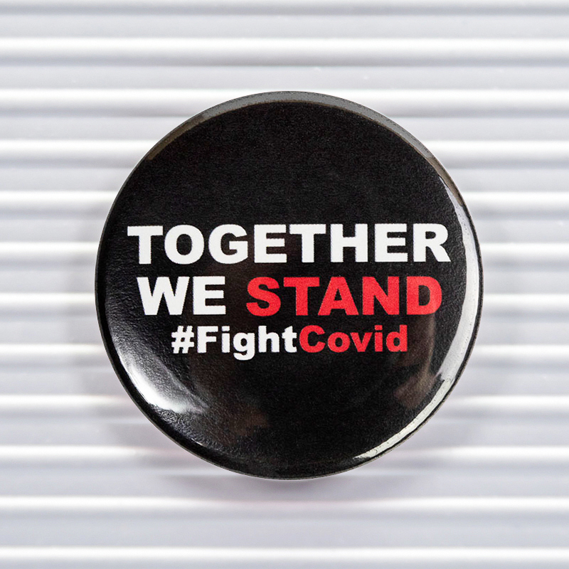 Together We Stand Social Distancing Pin Buttons