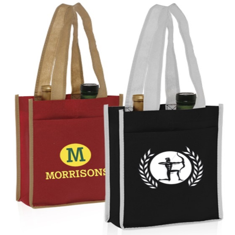 Two Bottle Non-Woven Wine Bags