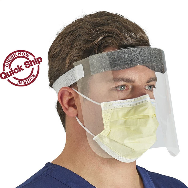 Safety Face Shields With Forehead Pad