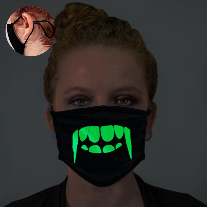 Vampire Teeth Glow In The Dark Face Mask