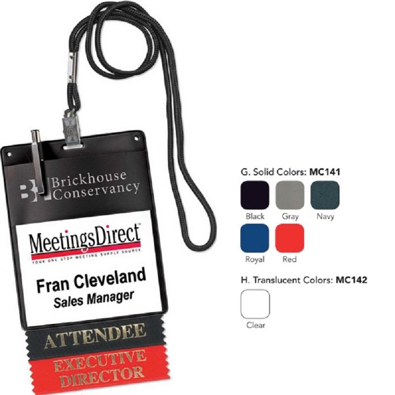 Vinyl Name Tag Badge Holder Neck Wallet